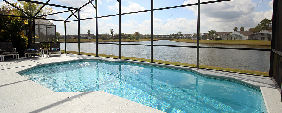 Pool Area with View of The Lake